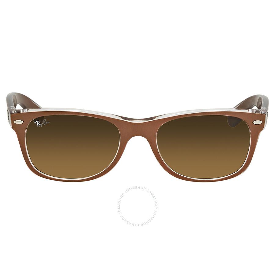 dce8759a9edf ... Ray Ban New Wayfarer Brown Gradient Men's Sunglasses RB2132 614585 52  ...