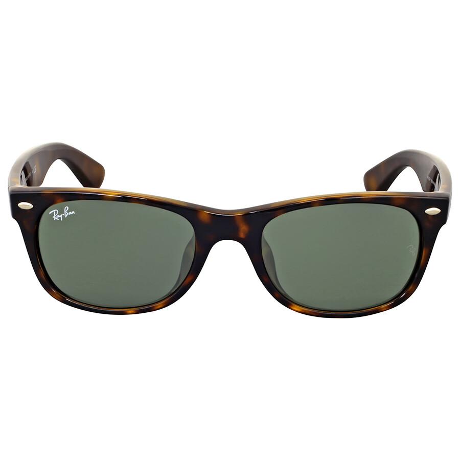 2175484226728 Ray-Ban New Wayfarer Classic Alternate Fit Green Lens Sunglasses ...