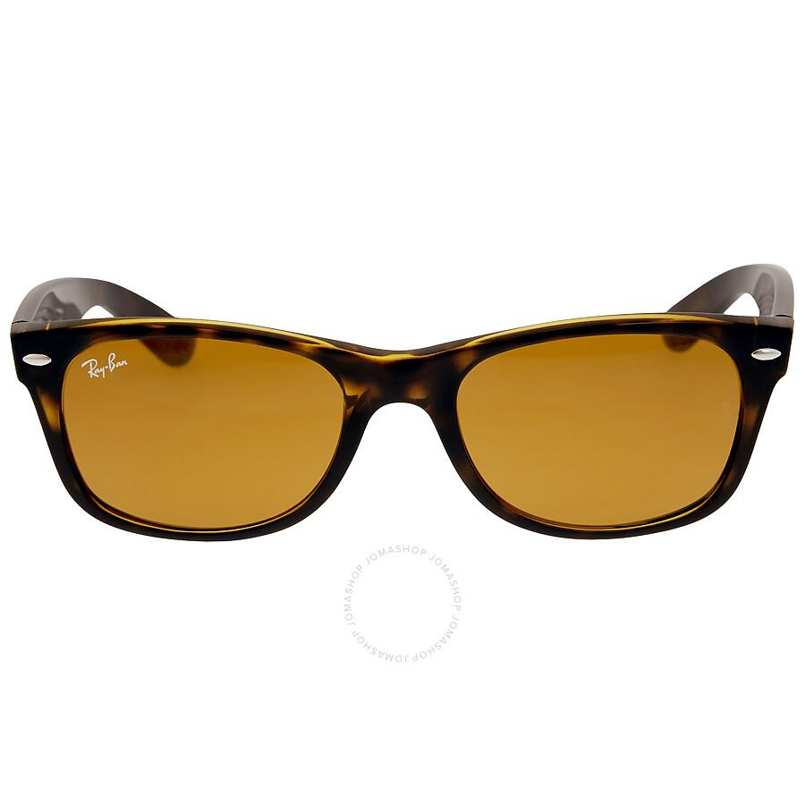 9e03d57e99 Ray Ban New Wayfarer Classic Brown Classic B-15 Sunglasses RB2132 710 52-18  ...