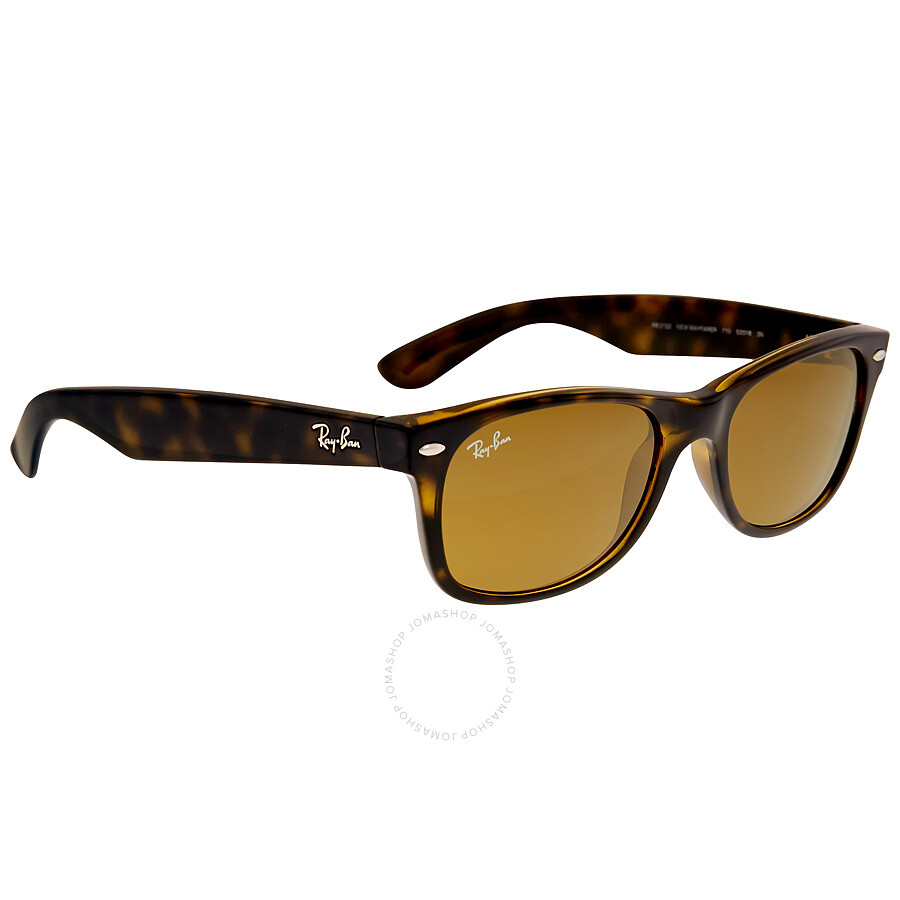 8275afc9df ... Ray Ban New Wayfarer Classic Brown Classic B-15 Sunglasses RB2132 710  52-18 ...