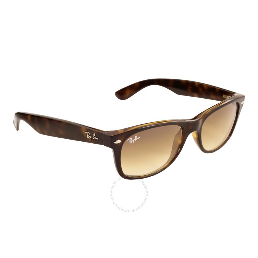 fce6f949ac ... Ray Ban New Wayfarer Classic Light Brown Gradient Sunglasses RB2132  710 51 52-18 ...