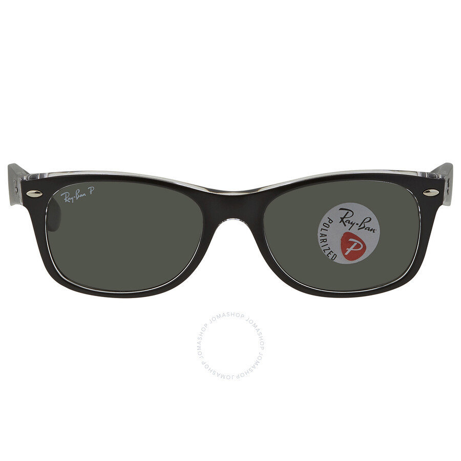 ray ban new wayfarer classic polarized green sunglasses rb2132 605258 52 wayfarer ray ban. Black Bedroom Furniture Sets. Home Design Ideas