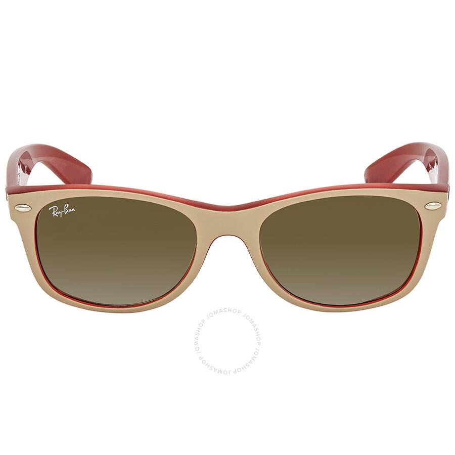 39f25a30f4 ... Ray Ban New Wayfarer Color Mix Green Gradient Men s Sunglasses RB2132  6307A6 52 ...
