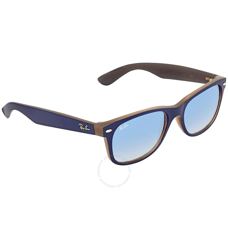 364cd53244 Ray Ban New Wayfarer Color Mix Light Blue Gradient Square Men s Sunglasses  RB2132 63083F 55 ...