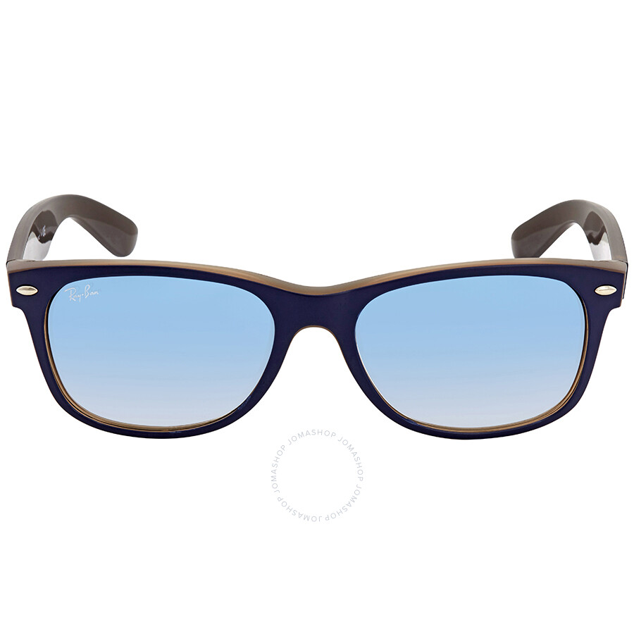 d84d83228b ... Ray Ban New Wayfarer Color Mix Light Blue Gradient Square Men s Sunglasses  RB2132 63083F 55 ...