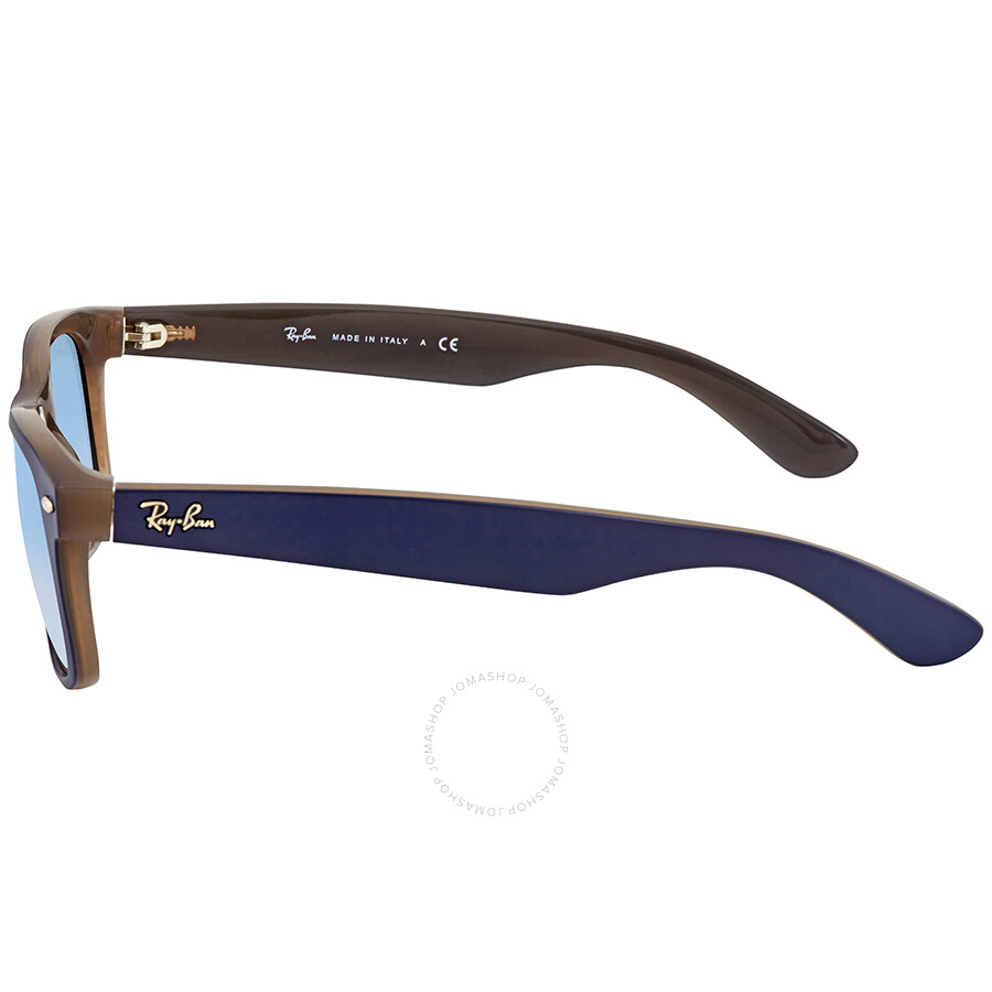 8031984f22 ... Ray Ban New Wayfarer Color Mix Light Blue Gradient Square Men s  Sunglasses RB2132 63083F 55