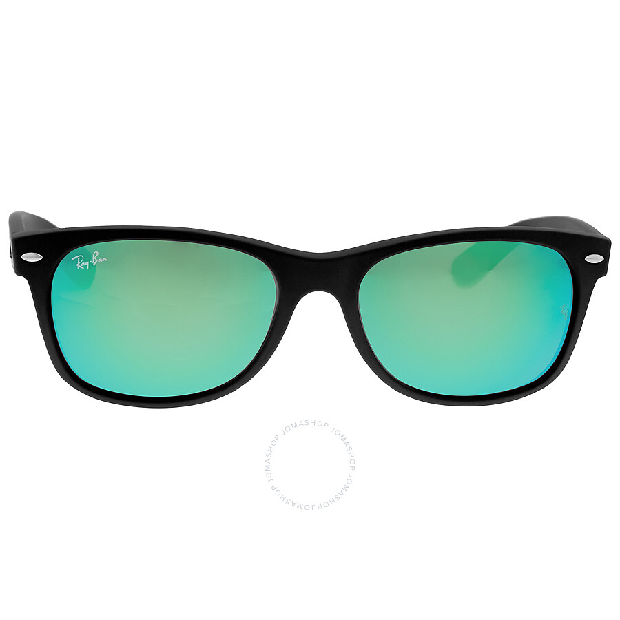 d6a9e4f4d0 Ray Ban New Wayfarer Flash Green Flash Sunglasses RB2132 622 19 55-18 ...