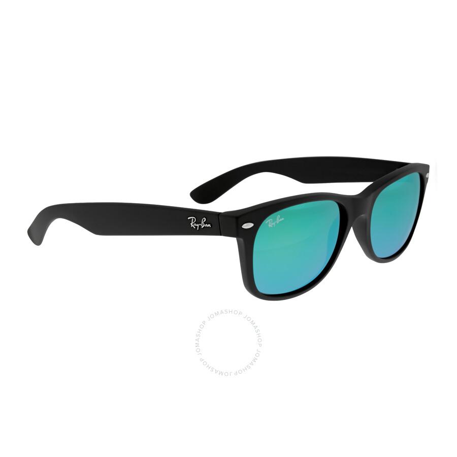 173dfb5ab1e ... Ray Ban New Wayfarer Flash Green Flash Sunglasses RB2132 622 19 55-18  ...