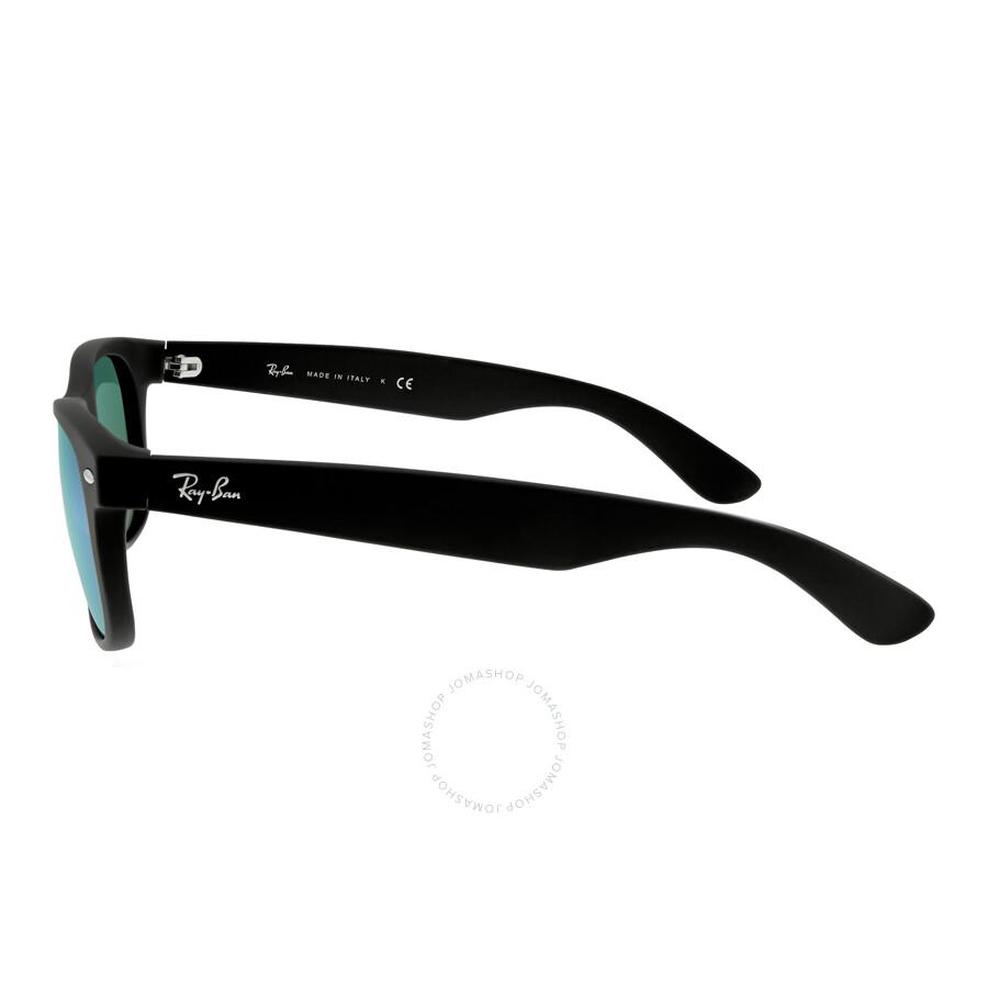 8d1b257d3fd ... Ray Ban New Wayfarer Flash Green Flash Sunglasses RB2132 622 19 55-18