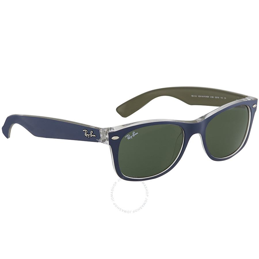 0d94e19e6a9f2 ... Ray Ban New Wayfarer Green Classic G-15 Men s Sunglasses RB2132 6188 52  ...