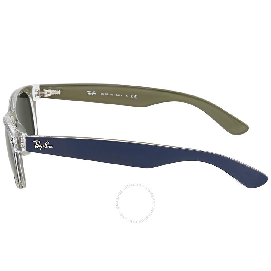 6a919ae2edbe8 ... Ray Ban New Wayfarer Green Classic G-15 Men s Sunglasses RB2132 6188 52