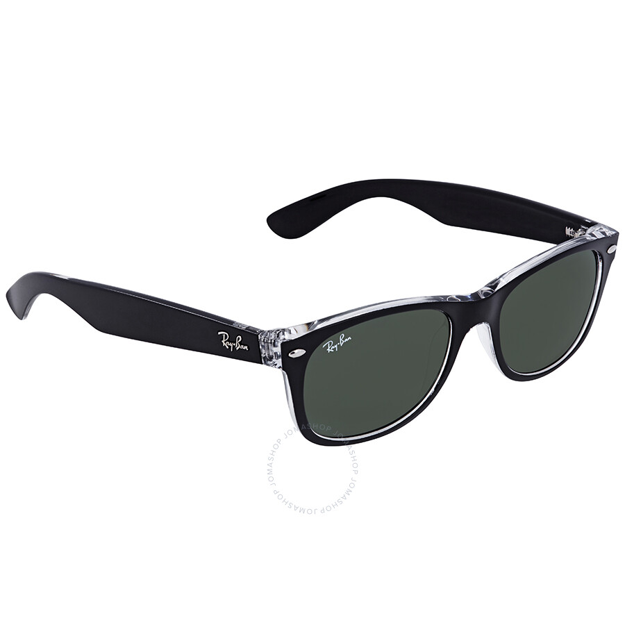 6dceb10ef5551 Ray Ban New Wayfarer Green Classic G-15 Sunglasses RB2132 6052 52 ...