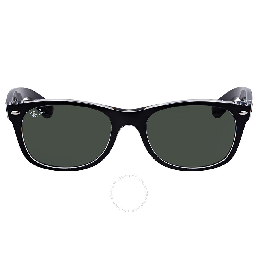 5ba62f8d63482 ... Ray Ban New Wayfarer Green Classic G-15 Sunglasses RB2132 6052 52 ...