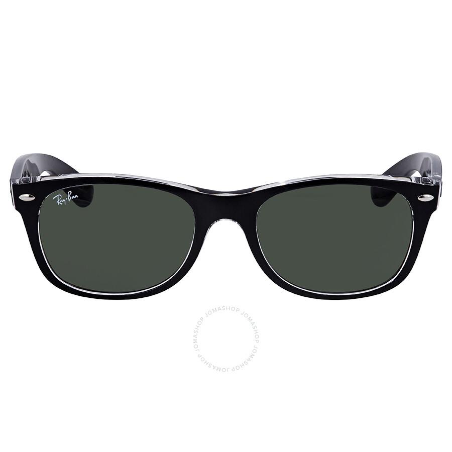 ff9e9e00df04b ... Ray Ban New Wayfarer Green Classic G-15 Sunglasses RB2132 6052 52 ...