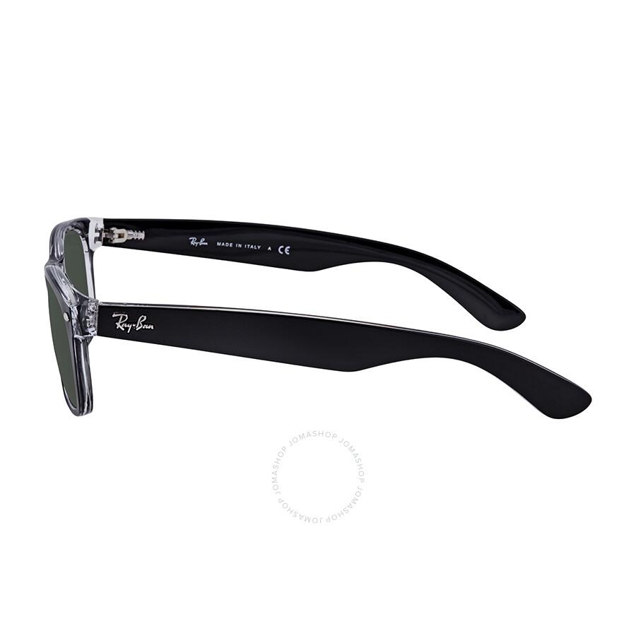 1b1cce58b6b6d Ray Ban New Wayfarer Green Classic G-15 Sunglasses RB2132 6052 52 ...