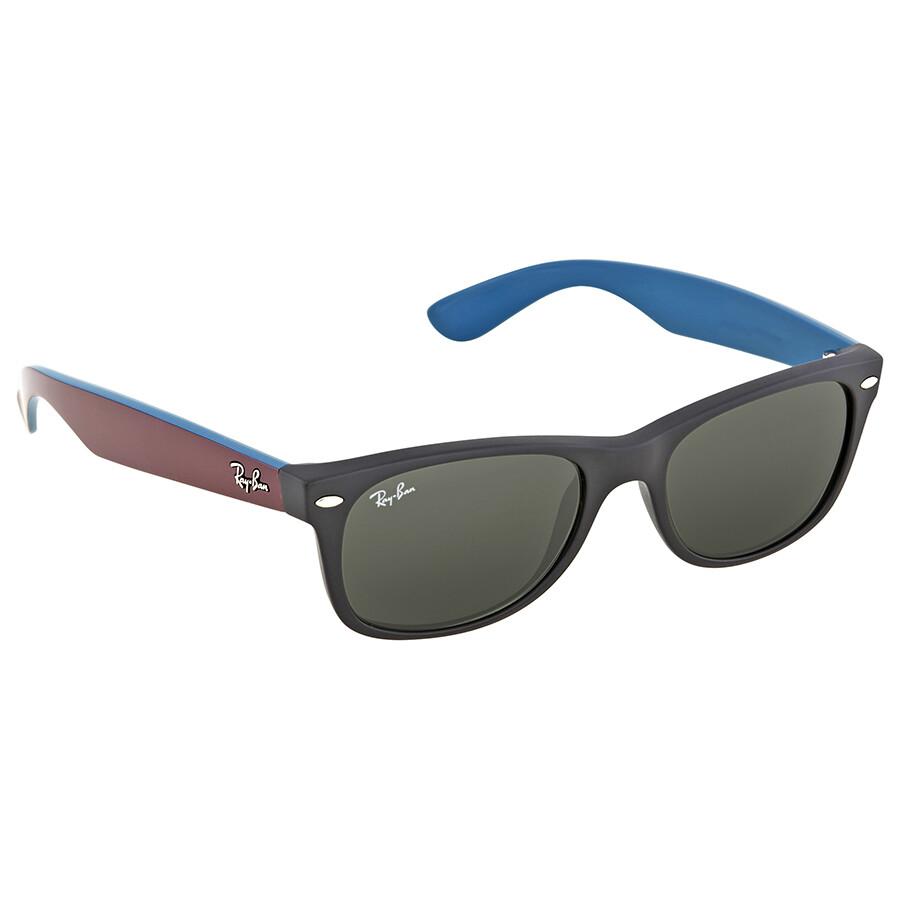 b6deac3e619 ... Ray Ban New Wayfarer Green Classic G-15 Wayfarer Men s Sunglasses RB2132  6182 52 ...