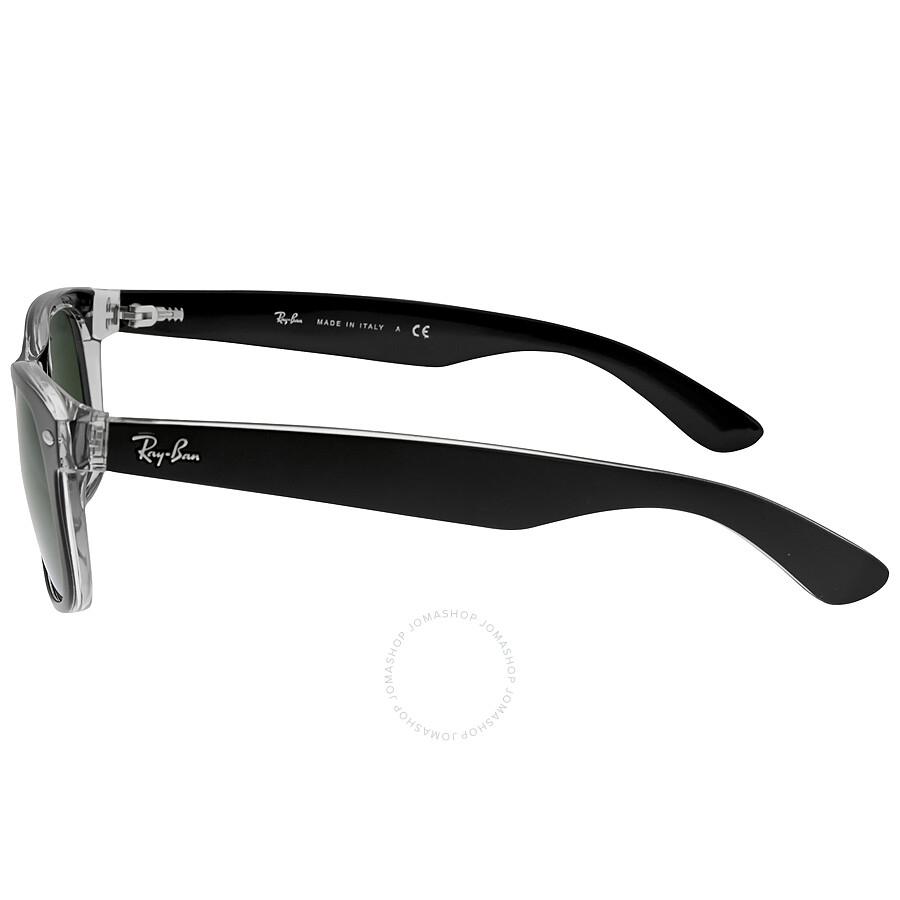 84198dc14 ... Ray Ban New Wayfarer Green Classic G-15 Sunglasses RB2132 6052 55
