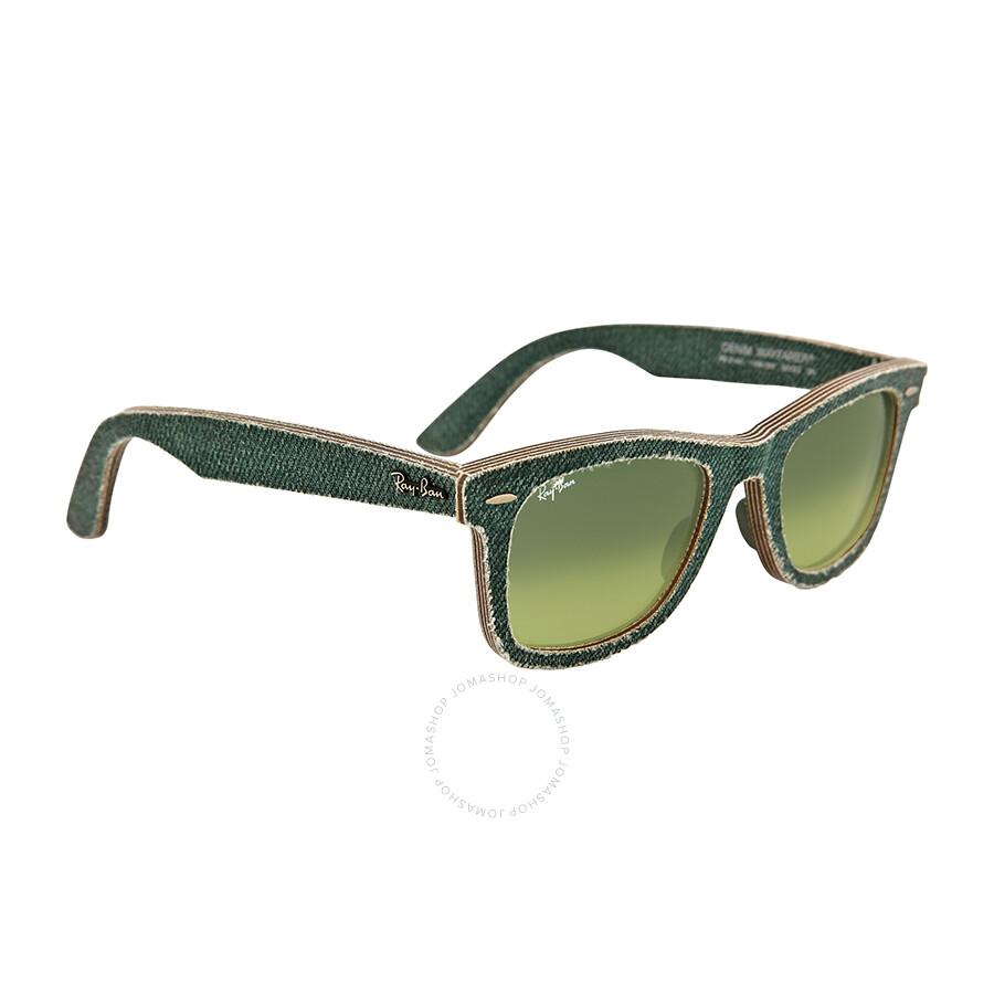 Ray ban new wayfarer green gradient lens 50mm men 39 s for Ecksofa 2 50 m