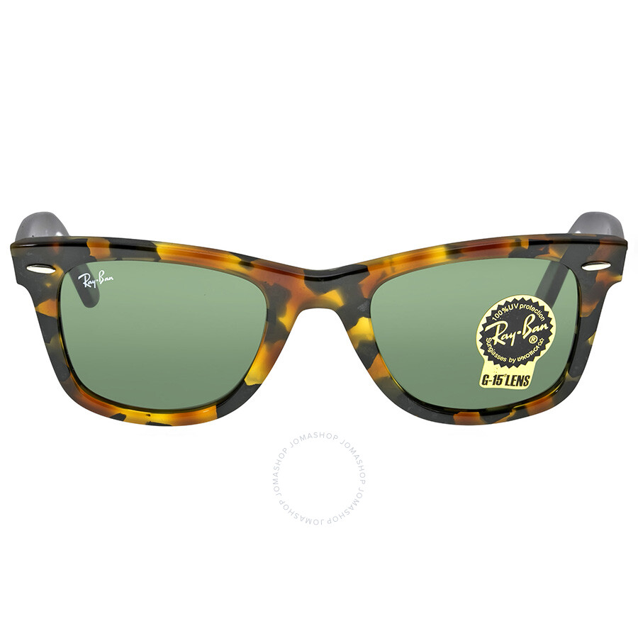 Ray Ban New Wayfarer Green Gradient Lens 55mm Men\u0026#39;s Sunglasses RB2140-1157-50