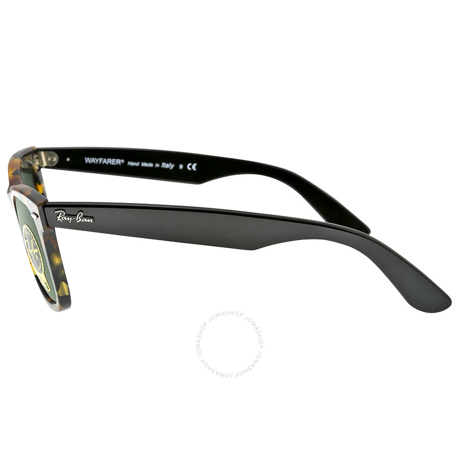 3a0f2534f36 ... 22 letter sunglasses in black frame with green lens1018 0ae84 promo  code for ray ban new wayfarer green gradient lens 50mm mens sunglasses  rb2140 1157 ...