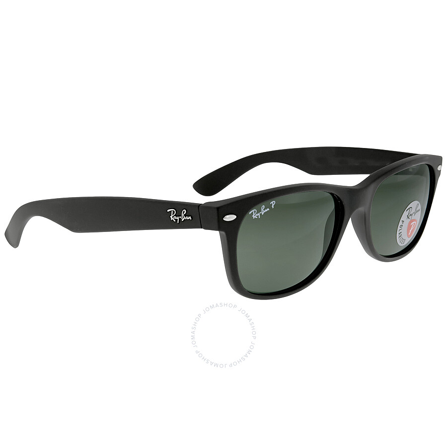 4f3d539e2e ... Ray Ban New Wayfarer Green Polarized Sunglasses RB2132 622 58 55-18 ...
