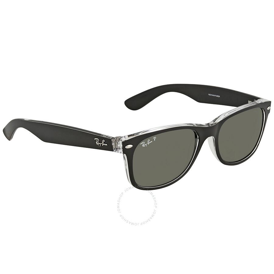 b3fbe67efa9 Ray Ban New Wayfarer Green Polzrized Sunglasses RB2132 605258 55-18 ...