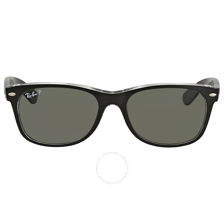 f0c94045c2 ... Ray Ban New Wayfarer Green Polzrized Sunglasses RB2132 605258 55-18 ...