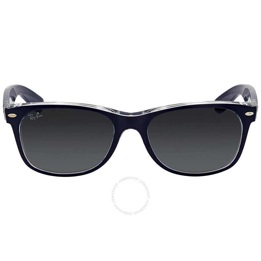 1bf1081fc ... Ray Ban New Wayfarer Grey Gradient Lens 55mm Men's Sunglasses RB2132  605371 55 ...