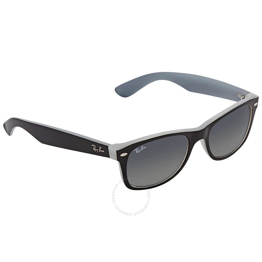 88e1983122 Ray Ban New Wayfarer Grey Gradient Square Men s Sunglasses RB2132 630971 52  ...