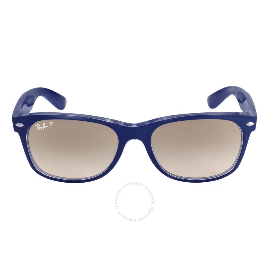 Grey Polarized Sunglasses  ray ban new wayfarer grey polarized sunglasses rb2132 6053m3 55