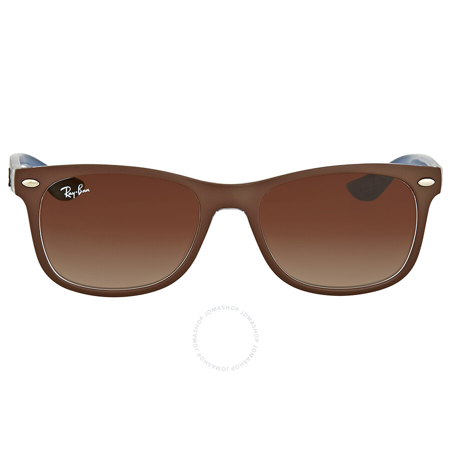 8855f8313c2a5a Ray Ban New Wayfarer Junior Brown Gradient Sunglasses Item No. RB9052S  703513 48