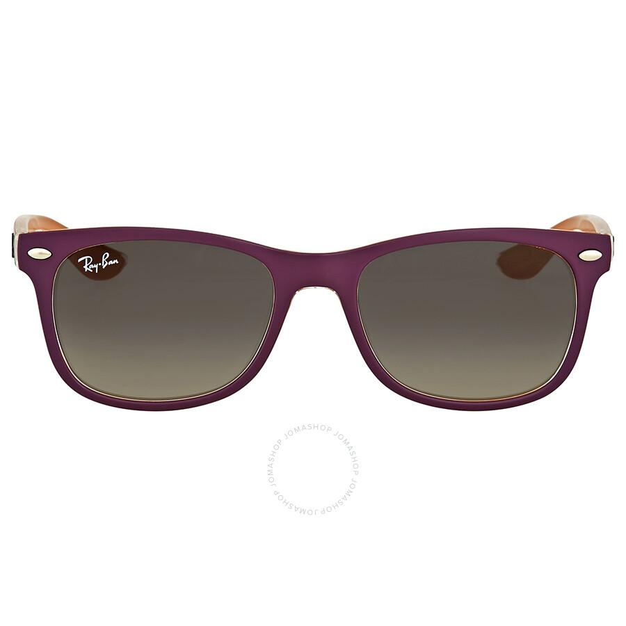 b2b5f5f809dd Ray Ban New Wayfarer Junior Grey Gradient Sunglasses Item No. RB9052S 703311  48