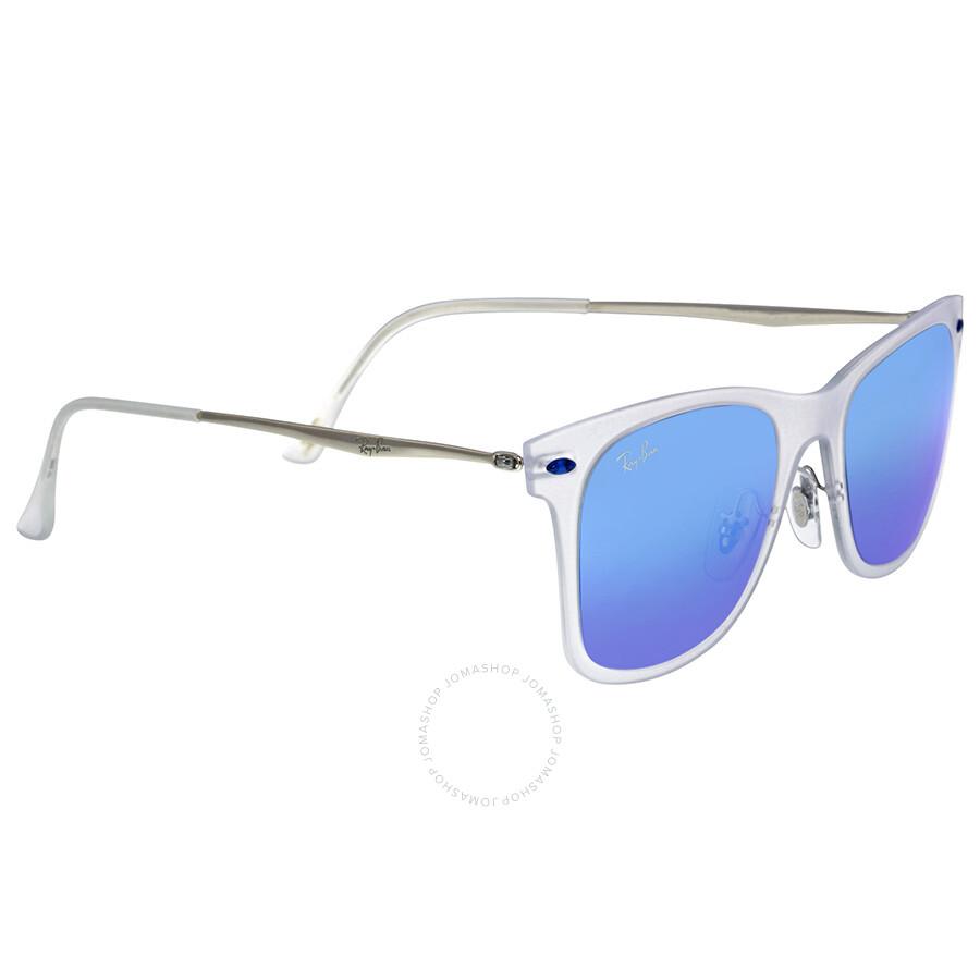 ray ban new wayfarer light ray blue mirror lenses 50 mm sunglasses rb4210 50 646 55 wayfarer. Black Bedroom Furniture Sets. Home Design Ideas