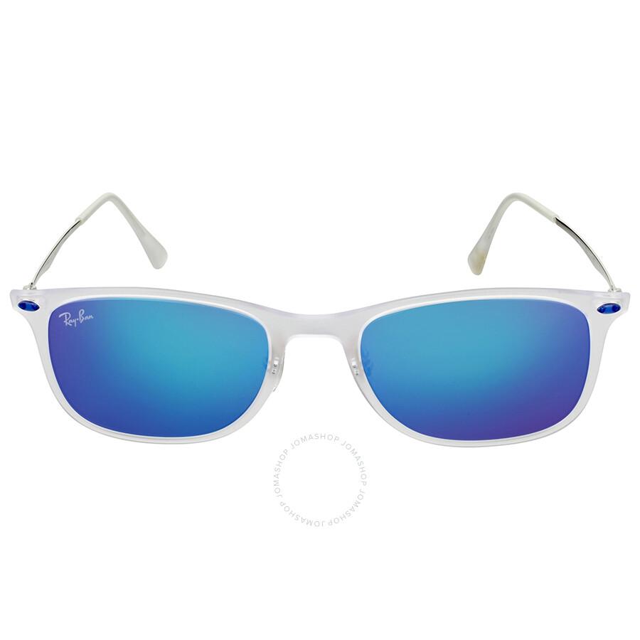 Ray Ban Ray-Ban New Wayfarer Light Ray Blue Mirror Sunglasses