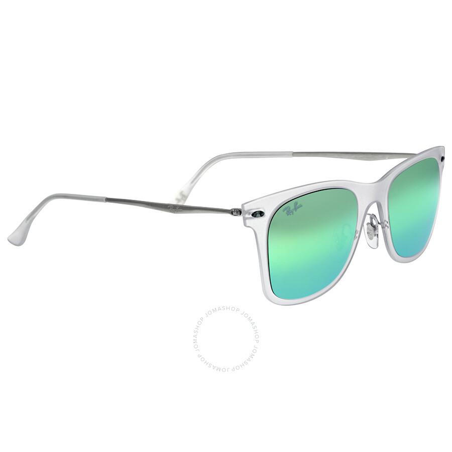 4decc191c559d ... Ray Ban New Wayfarer Light Ray Green Mirror Lenses 50 mm Sunglasses  RB4210-50- ...