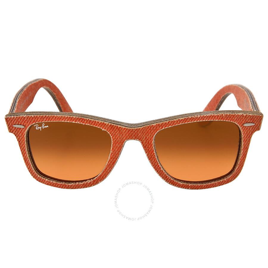 111fec802a Ray Ban New Wayfarer Orange Gradient Lens 50mm Sunglasses RB2140 11653C  50-22 Item No. RB214011653C50