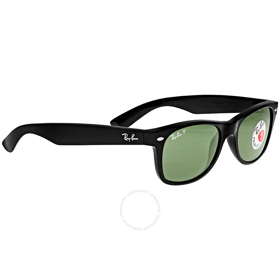 ray ban new wayfarer polarized black green 52mm sunglasses rb2132 901 58 52 18 wayfarer ray. Black Bedroom Furniture Sets. Home Design Ideas