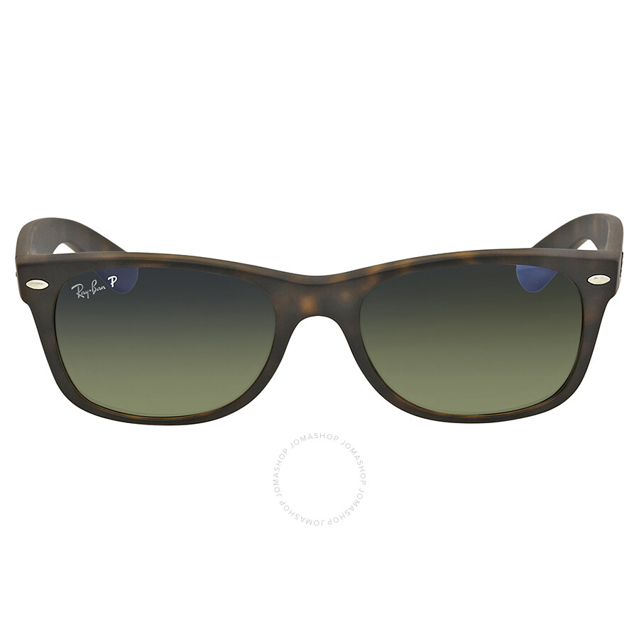 46b9e03fbd4 ... Ray Ban New Wayfarer Polarized Blue Green Gradrient Sunglasses RB2132  894 76 52-18 ...