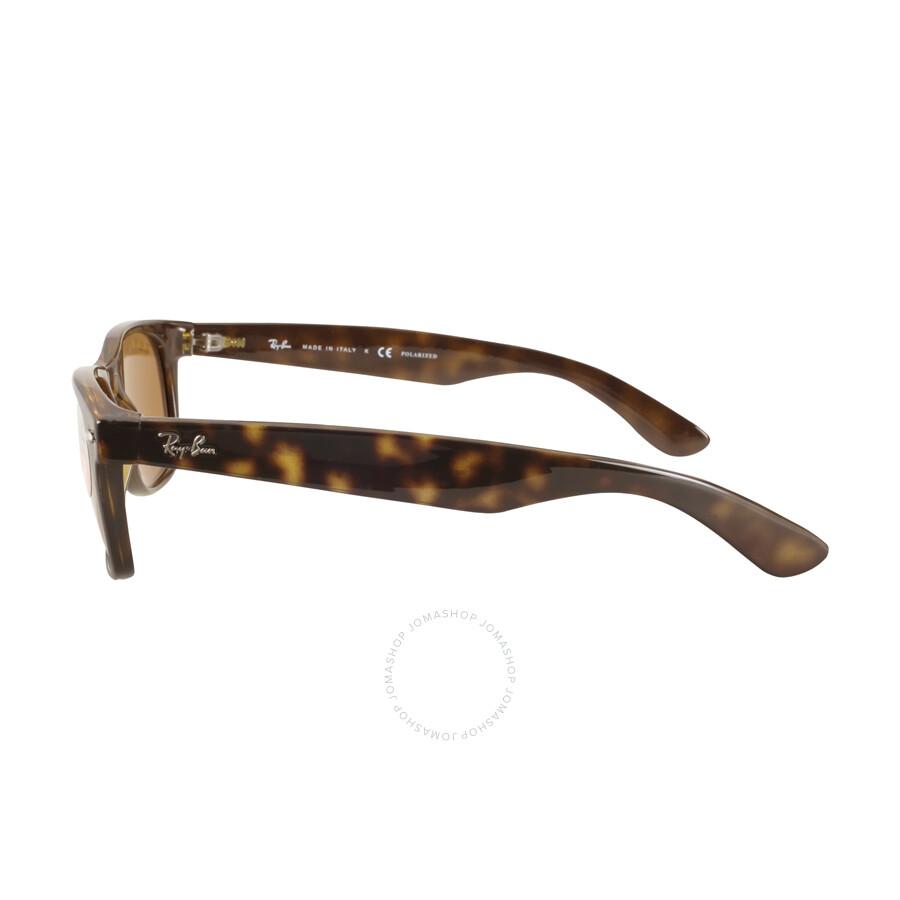 631b54be706 Ray Ban New Wayfarer Polarized Brown Sunglasses RB2132 902 57 55 ...