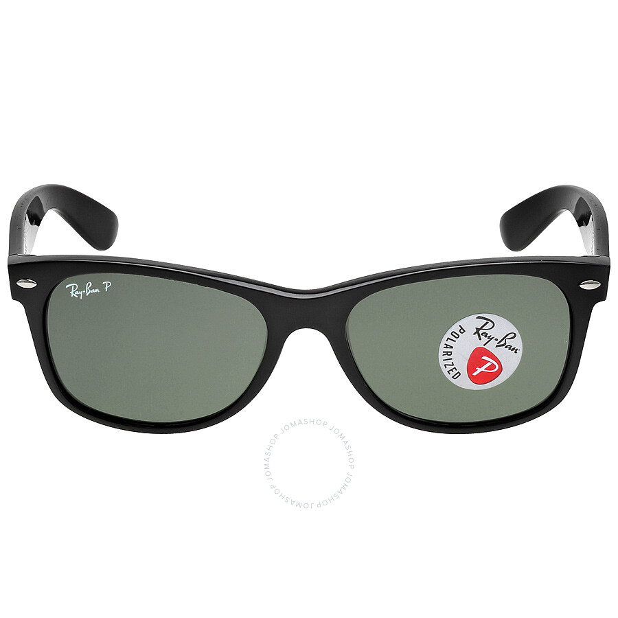 5b543c73d Ray Ban New Wayfarer Polarized Green Sunglasses RB2132 901/58 55-18 ...