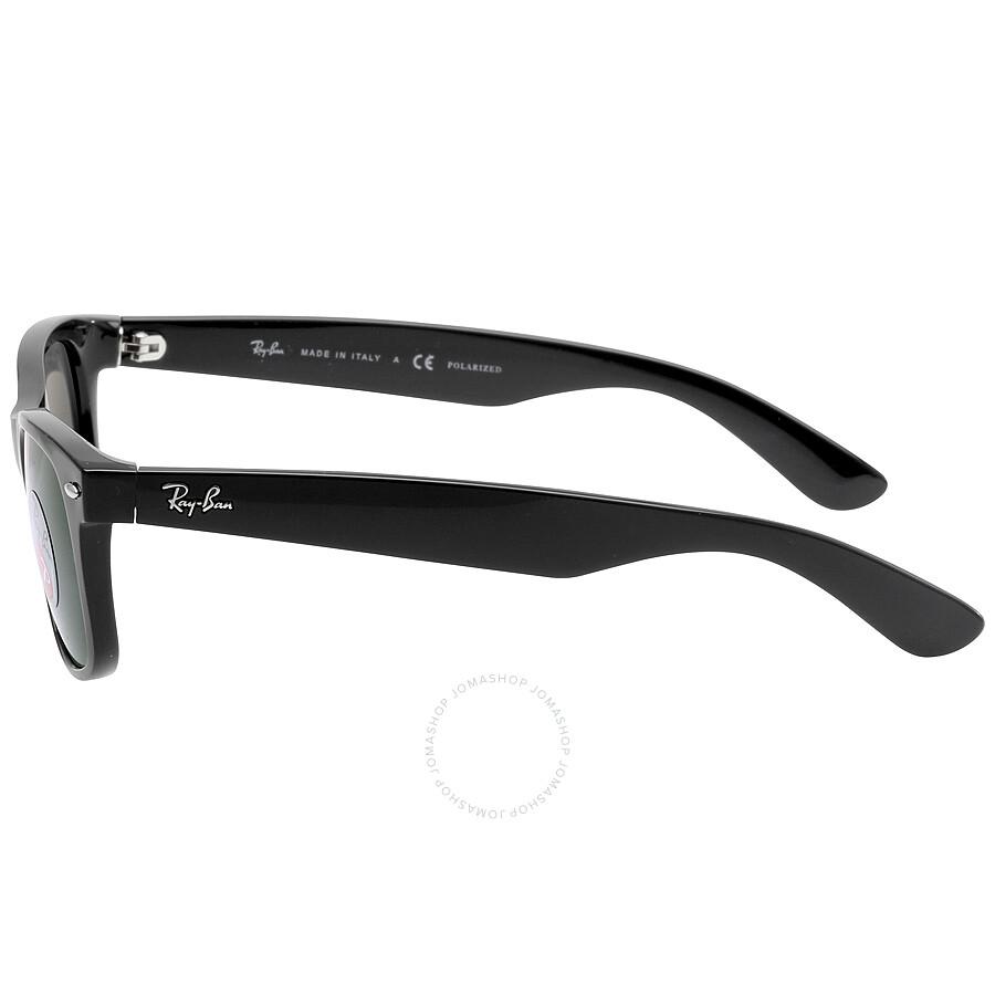 ray ban sunglasses new wayfarer  Ray Ban New Wayfarer Polarized Green Sunglasses RB2132 901/58 55 ...