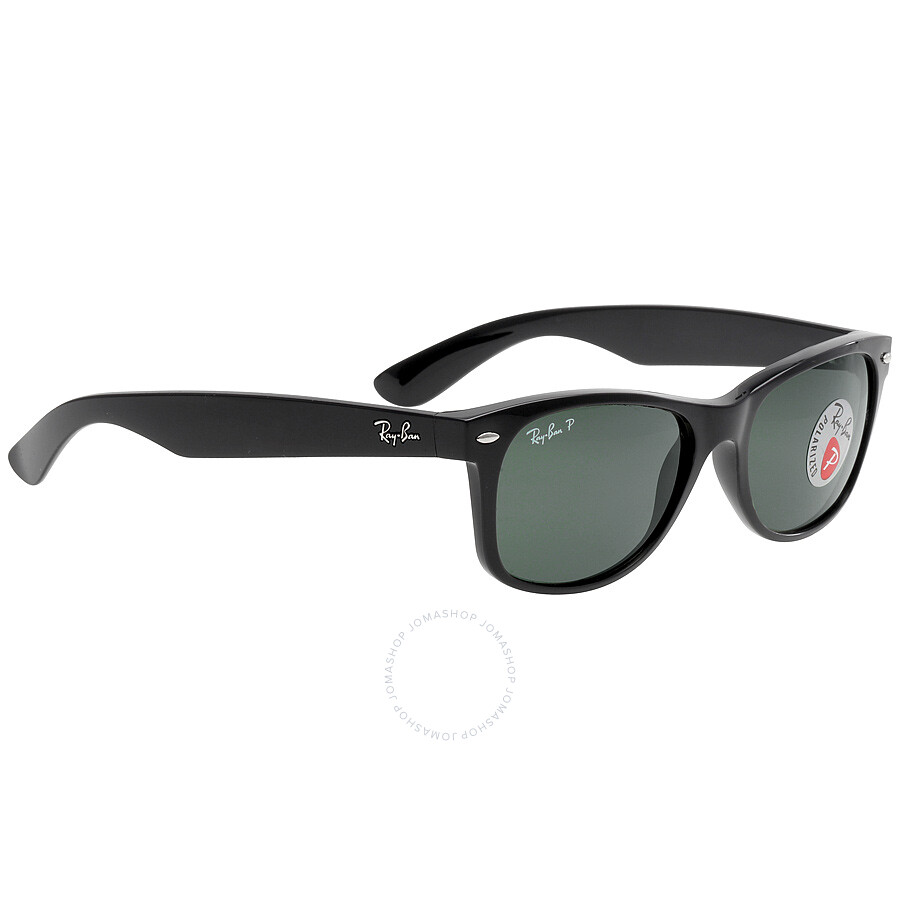 96cf4166a3 Ray Ban New Wayfarer Polarized Green Sunglasses RB2132 901 58 55-18 ...