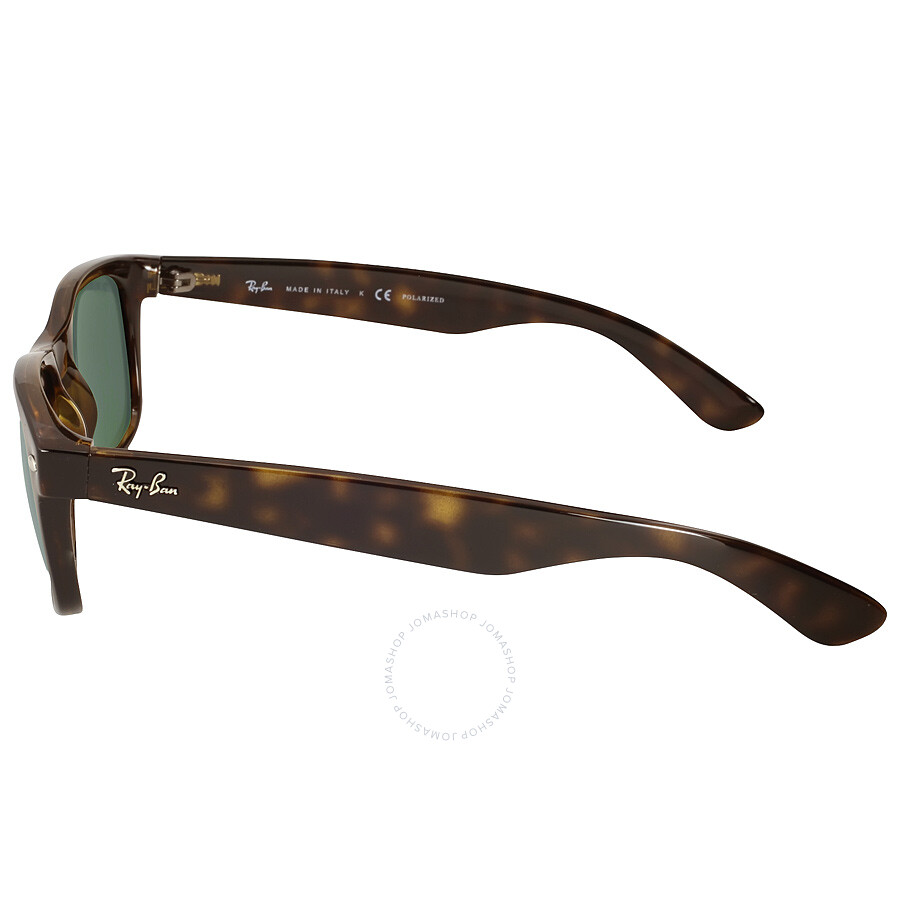 3add264f7b Ray Ban New Wayfarer Polarized Green Sunglasses RB2132 902 58 55-18 ...