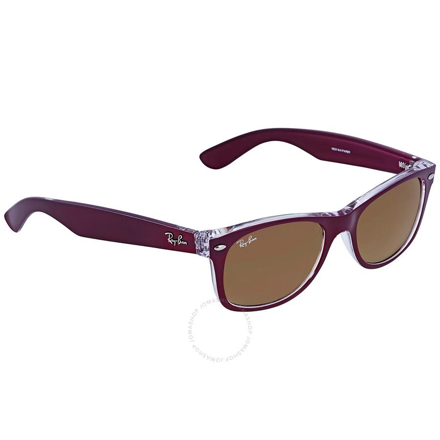 247555309d ... real ray ban new wayfarer red gradient lens 52mm sunglasses rb2132  605485 52 18 80320 2b462