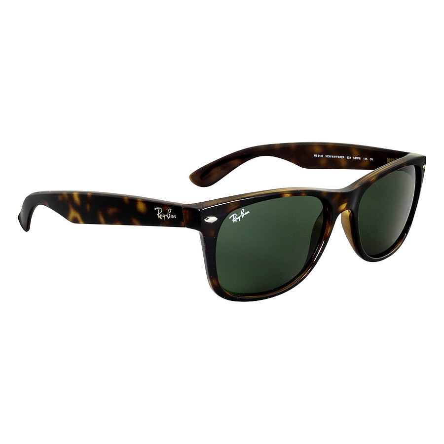 ray ban new wayfarer tortoise green 52mm sunglasses rb2132. Black Bedroom Furniture Sets. Home Design Ideas