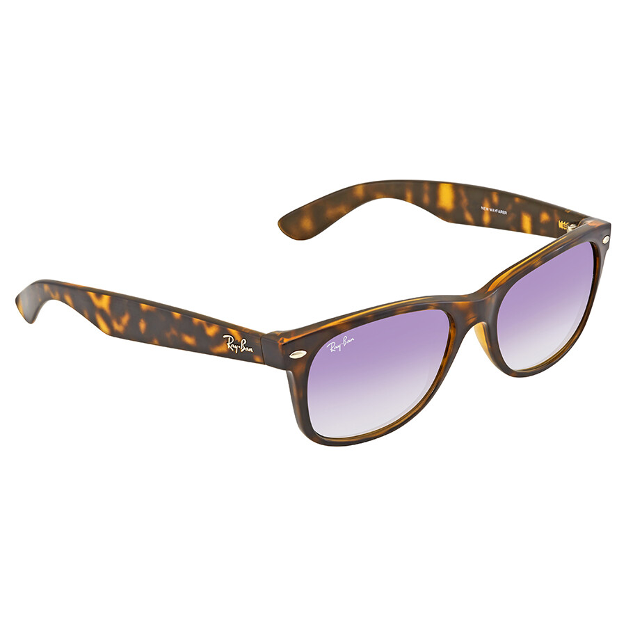 45671bb547 Ray Ban New Wayfarer Violet Gradient Wayfarer Sunglasses RB2132 710 S5 55  ...