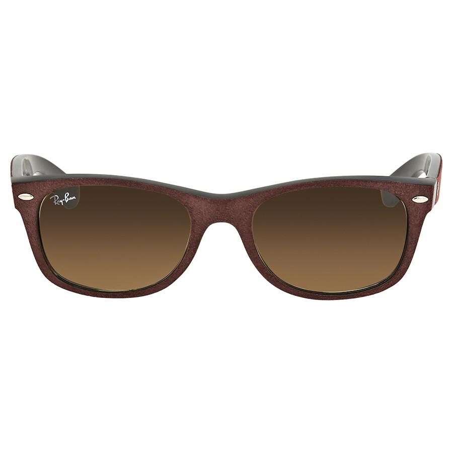 dda4a34bfb6 ... Ray Ban New Wayfarer with Alcantara Brown Gradient Sunglasses RB2132  624085 52 ...