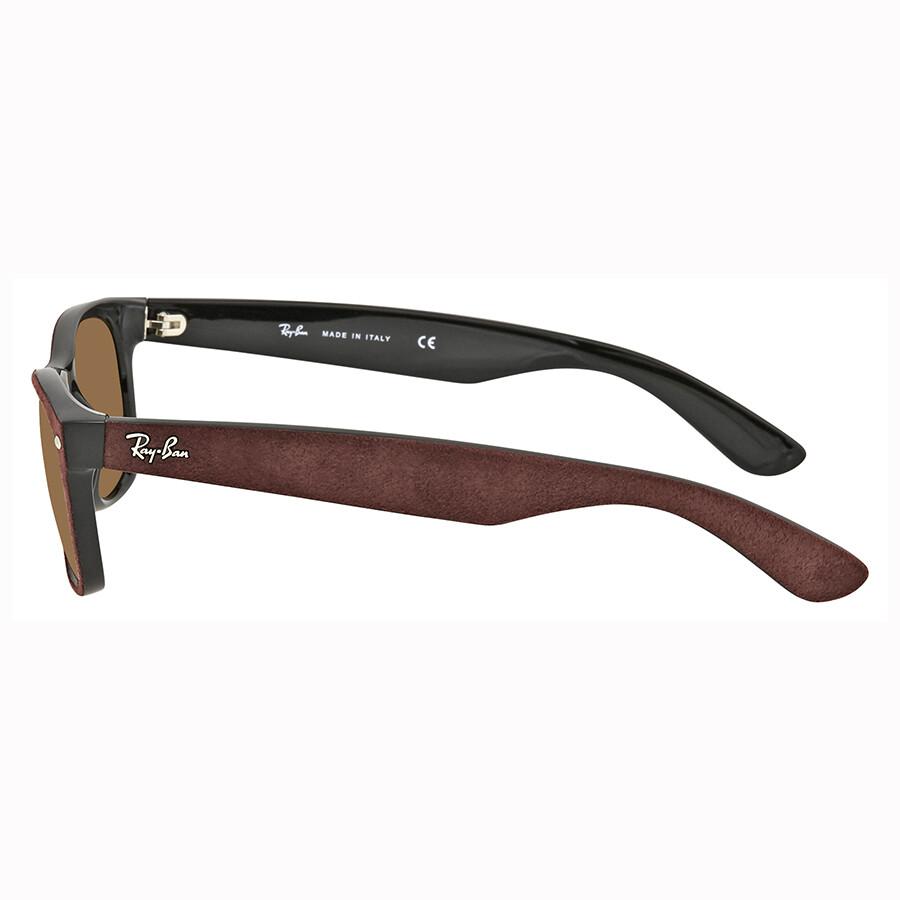 2b6a8287f9d ... Ray Ban New Wayfarer with Alcantara Brown Gradient Sunglasses RB2132  624085 52