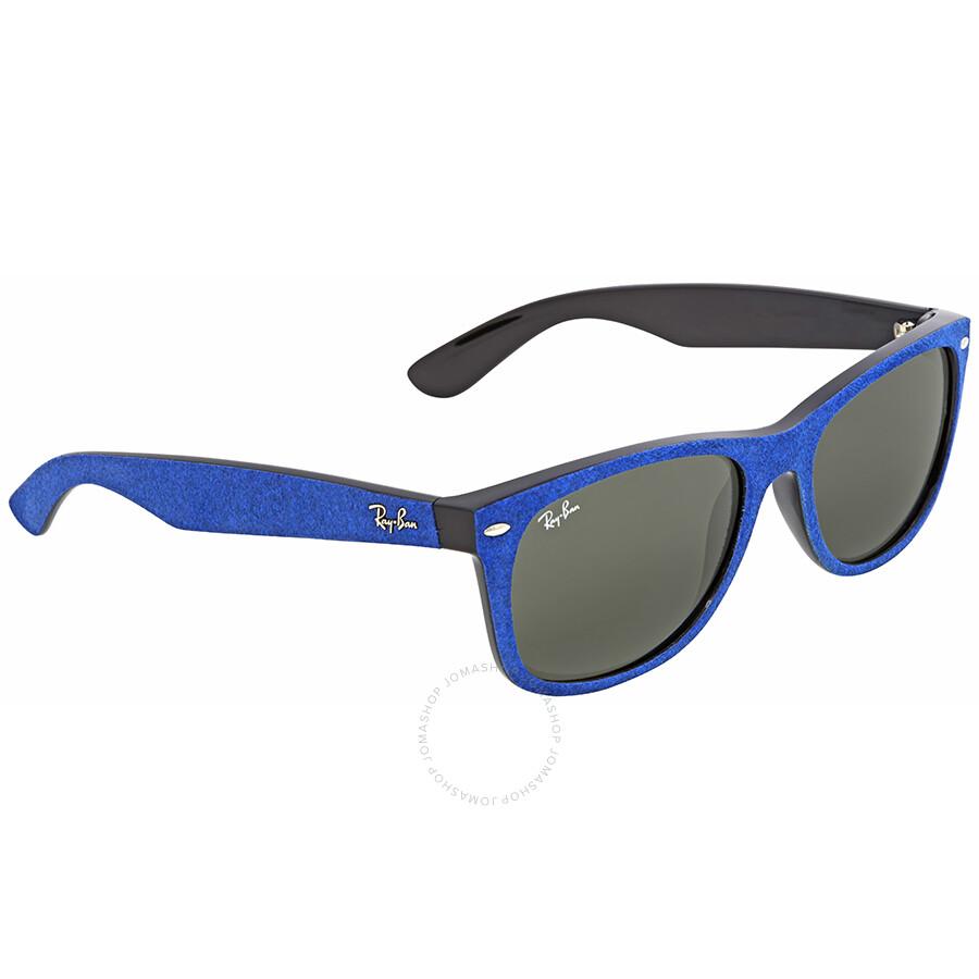 8ac12d8908 ... Ray Ban New Wayfarer With Alcantara Green Classic G-15 Wayfarer  Sunglasses RB2132 6239 58 ...