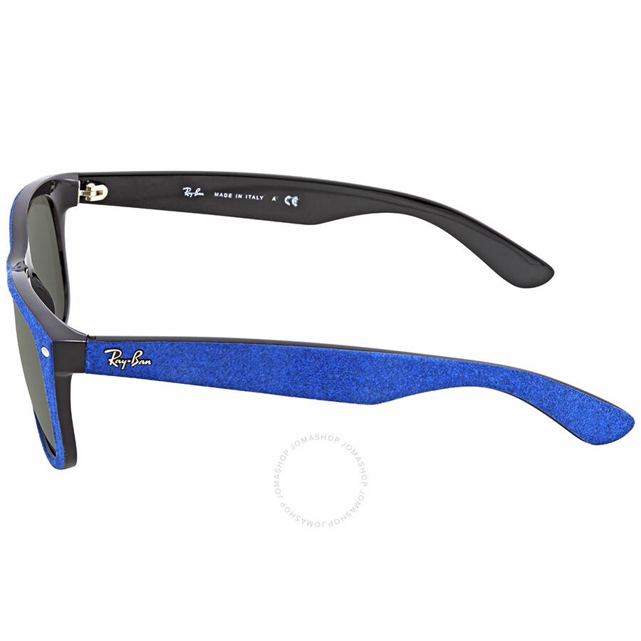 6987037209f ... Ray Ban New Wayfarer With Alcantara Green Classic G-15 Wayfarer  Sunglasses RB2132 6239 58